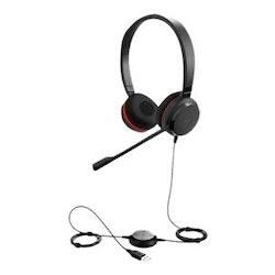 Jabra Evolve 20SE MS stereo Kabling Svart Headset