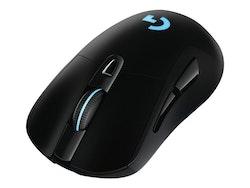 Logitech Wireless Gaming Mouse G703 LIGHTTSPEED HERO 16K Sensor Optisk Trådlös Kabling Svart