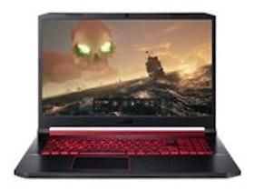 """Acer Nitro 5 17,3 """"144Hz i7-9750H 8GB 512GB GTX 1660 Ti - kbd: Nordic - obsidian svart"""