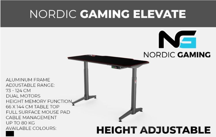 Nordic Gaming Elevate Gamer bord
