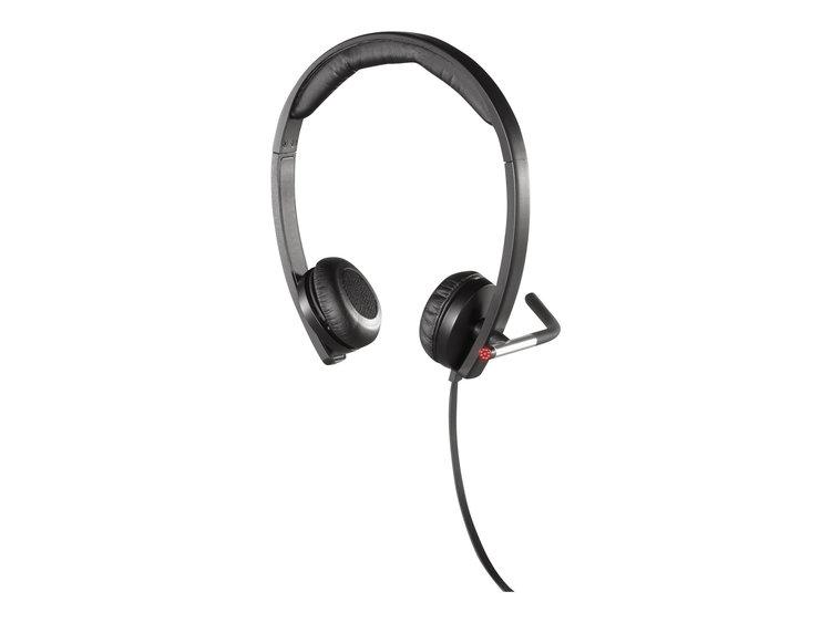 Logitech USB Headset Stereo H650e - Headset - Svart