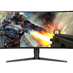 """LG UltraGear 34GK950F-B 34"""" 3440 x 1440 HDMI DisplayPort 144Hz Pivot Skärm"""