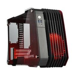 Enermax STEELWING ECB2010R - Mini tower  - röd - USB/ljud