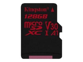 Kingston Canvas React microSDXC 128 GB A1 / Video Class V30 / UHS-I U3 / Class10
