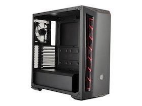 Cooler Master MasterBox MB510L - Miditower - ATX - inget nätaggregat - röd - USB/ljud