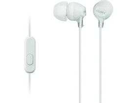 Sony MDR-EX15AP - EX Series - hörlurar med mikrofon Vit