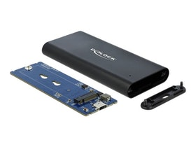 Delock External Enclosure for M.2 NVMe PCIe SSD with SuperSpeed USB 10 Gbps (USB 3.1 Gen 2) USB Type-C