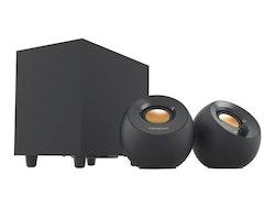 Creative Pebble Plus - Högtalarsystem - 8 Watt (totalt) - svart