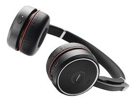 Jabra Evolve 75 UC Stereo Trådlös Svart Headset