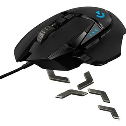 Logitech Gaming Mouse G502 (Hero) Trådlös Kabling Svart