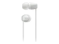 Sony WI-C200 - Hörlurar med mikrofon - i örat - Bluetooth - trådlös - vit