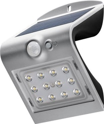 GOOBAY LED solar wall light with a motion sensor, 1.5Â W, silver