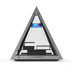Azza Pyramid 804 GAMING RGB Tower, with window, gray