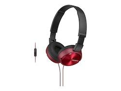 Sony MDR ZX310 Kabling Röd Svart