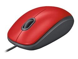 Logitech M110 Silent Optisk Kabling Röd