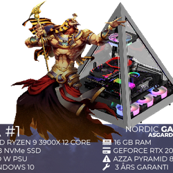 Nordic Gaming Asgard Ra #1 Ryzen 9 16GB 1TB RTX 2080S W10
