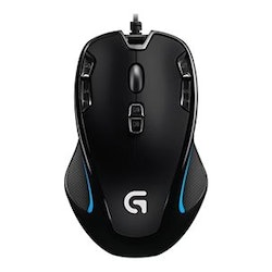 Logitech Gaming Mouse G300s Optisk Kabling Svart Blå