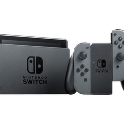 Nintendo Switch - Spelkonsol - Full HD - grå, svart