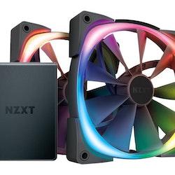 NZXT Aer RGB 2 - Starter Kit - lådfläkt - 140 mm (paket om 2)