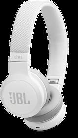 JBL LIVE 400BT - Hörlurar med mikrofon - på örat - Bluetooth - trådlös - Vit