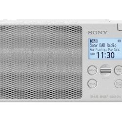 Sony XDR-S41D DAB bärbar radio Vit