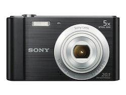 Sony Cyber-shot DSC-W800 - Digitalkamera - kompakt - 20.1 MP - 720 p - 5x optisk zoom - svart