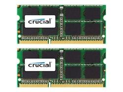 Crucial DDR3 16GB kit 1333MHz CL9 Ikke-ECC SO-DIMM 204-PIN