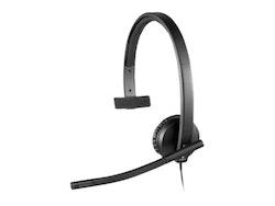 Logitech USB Headset H570e - Headset - på örat - kabelansluten