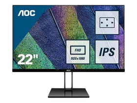 "AOC 22V2Q 21.5"" 1920 x 1080 HDMI DisplayPort 75Hz"