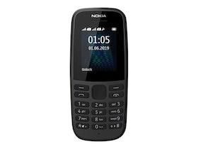 """Nokia 105 1.77"""" 4MB Svart"""
