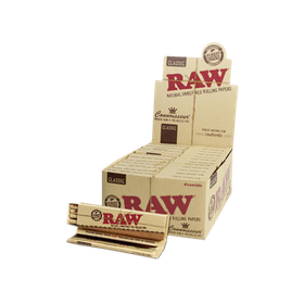 "RAW ""Connoisseur"" KingSize Slim with Prerolled Filters"