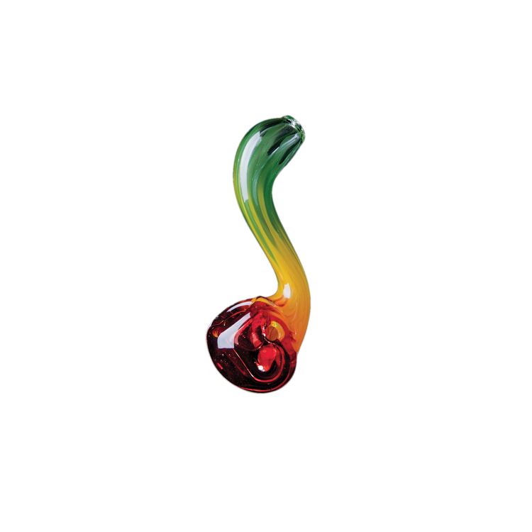 Sherlock Pipa - Rasta - Chameleon Glass