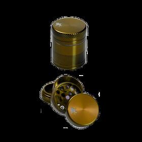 Black Leaf Grinder Mini 4-delar Guld