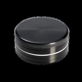 Grinder Aluminium Black Leaf 2-delad