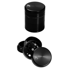 Black Leaf Grinder Mini 4-delar Svart