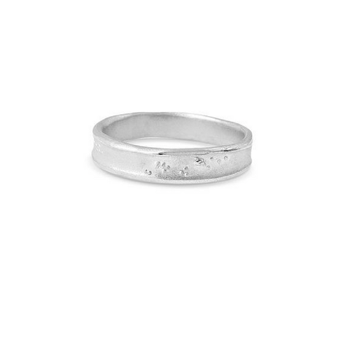 Misty Forest Henry Mens Silver Ring