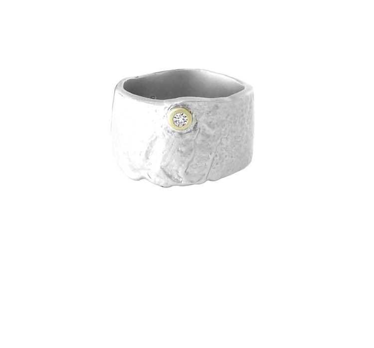 Misty Forest Garden Ring- Silver