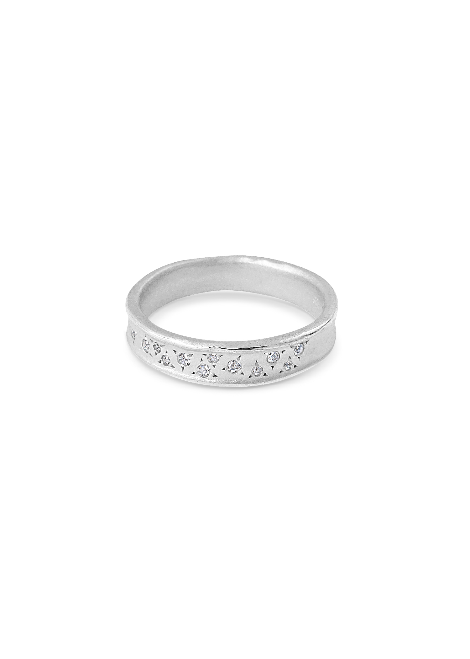 Misty Forest Dew Drops Ring- Silver