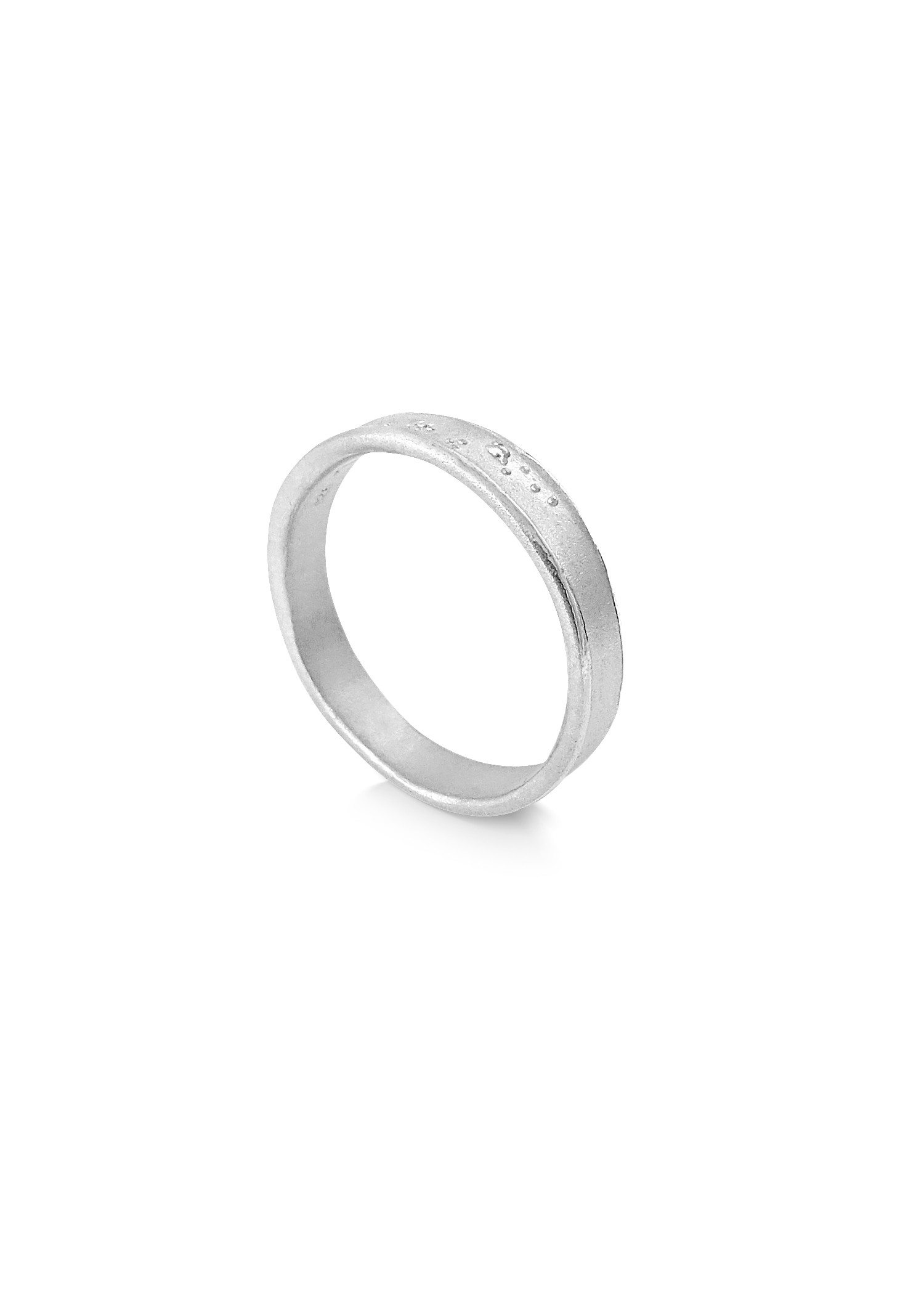 Misty Forest Henry Mens Ring- Silver