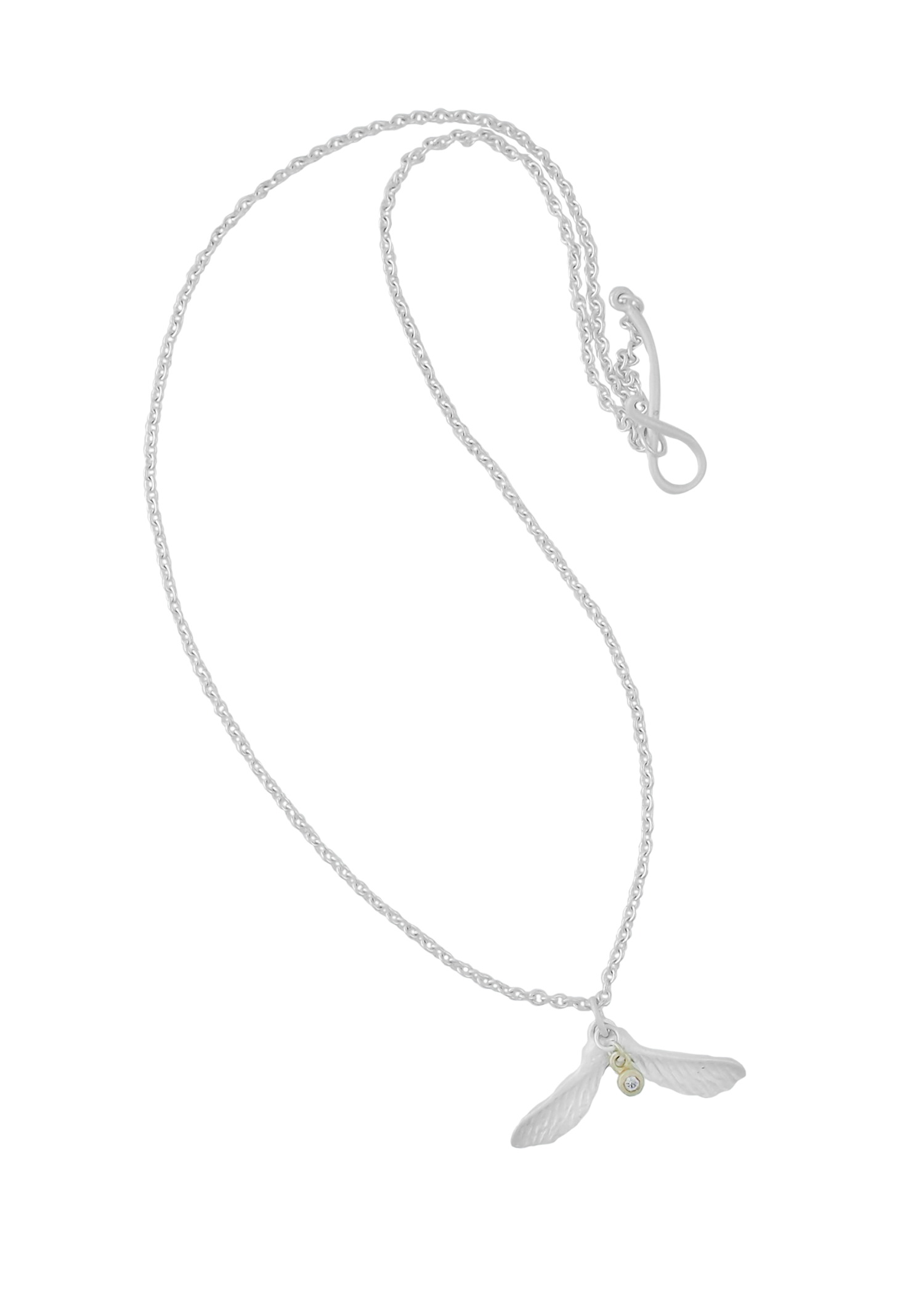 Dazzle Maple Nose Halsband, silver
