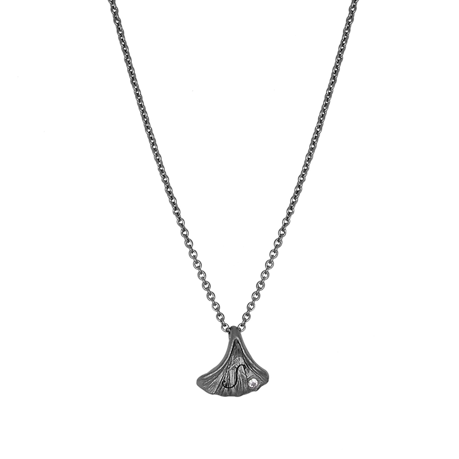 Ginkgo Lovetags Halsband, Brons