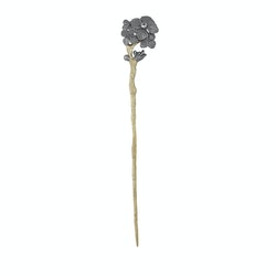 Hair pin or brooch in bronze and gold