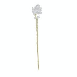 Hair pin or brooch in silver and gold