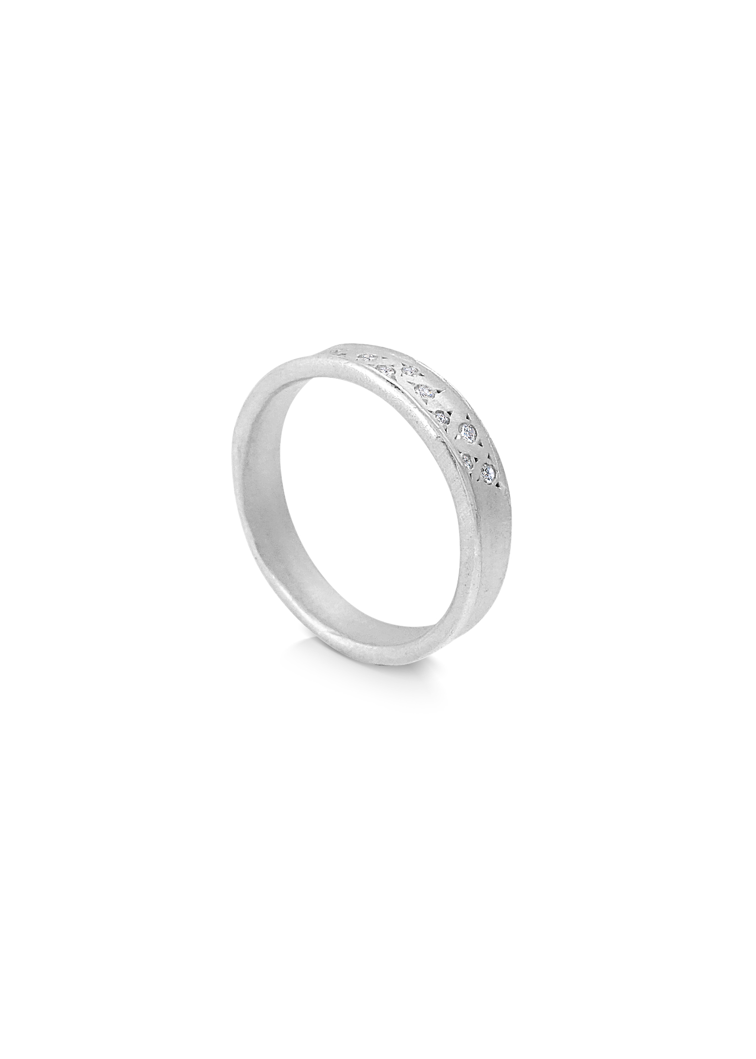 Misty Forest Dew Drops Ring