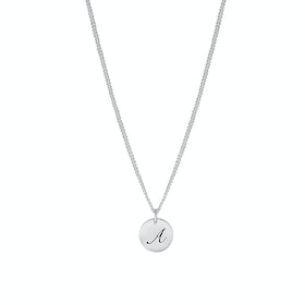 Letter Coin Halsband, Silver