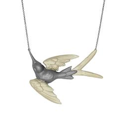 Fluttering Svallow Halsband, brons/guld