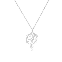 Twinkle Seaweed Necklace, silver