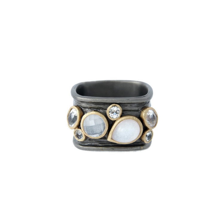 Moon Stone Rocket Ring, brons