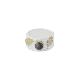 Gilded Forêt Ring, silver / guld
