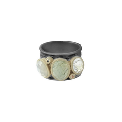 Gray Morning Dew Ring, bronze